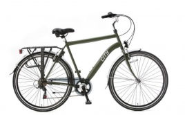 Heren stadsfiets City 28 inch Army Green 6 versnellingen